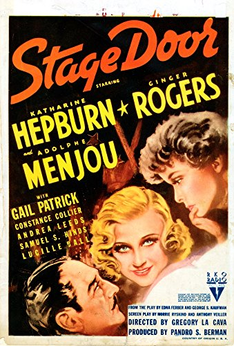 Stage Door Us Poster From Left Adolphe Menjou Ginger Rogers Katharine Hepburn On Midget Window Card 1937 Movie Poster Masterprint (11 x 17)