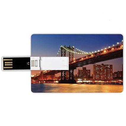 8GB Forma de tarjeta de crédito de unidades flash USB Nueva York ...