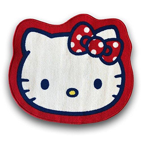 Hello Kitty Carpet (Sanrio Hello Kitty die cut face shape large Area Rug)
