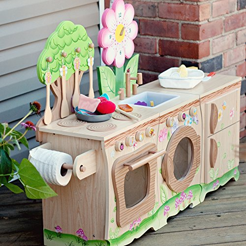 Teamson Kids Enchanted Forest Wooden Play Kitchen Sink