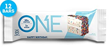 Nutrition One Bar Birthday Cake 12 Count By Oh Yeah