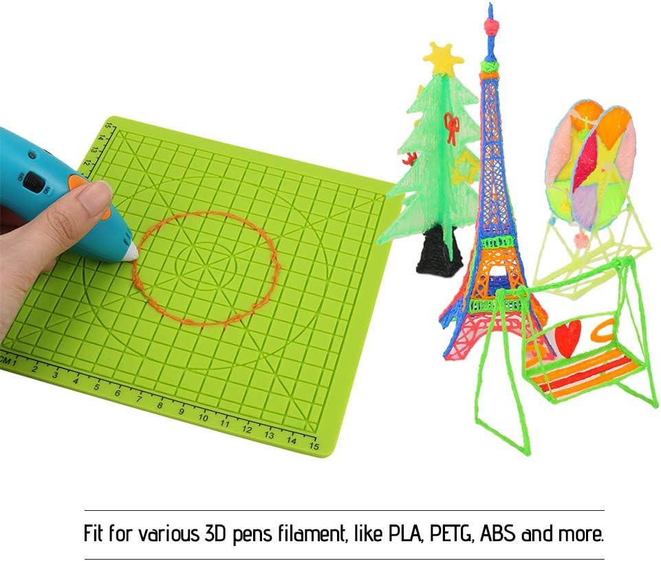 Inicio Tapis de Stylo 3D Impression 3D Pen Pad Mod/èle en Silicone Avec 2 Bouchons de Doigt Mod/èle de dessin Avec Outils de dessin de Base Accessoire de Stylo 3D pour Enfants Ou Adultes