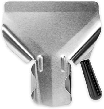 Stainless Steel Popcorn Scoop – Easy Fill Tool for Bags & Boxes, Great Utility Serving Scooper for Snacks, Desserts, Ice, Dry Goods by Back of House ...