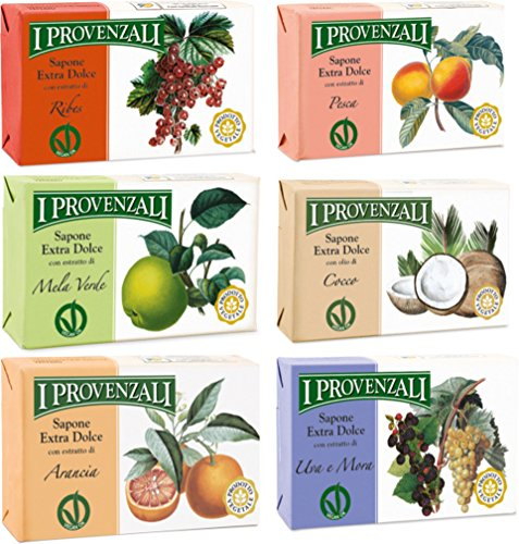 i-provenzali-set-of-six-sapone-extra-dolce-extra-gentle-soap-529-ounce-150gr-packages-1-each-scent-i