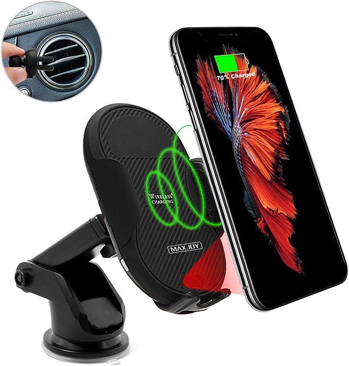 HOPQ Magnetic Pack Soporte para tel/éfono para autom/óvil Soporte dual para montaje de 360 bolas giratorias para autom/óvil