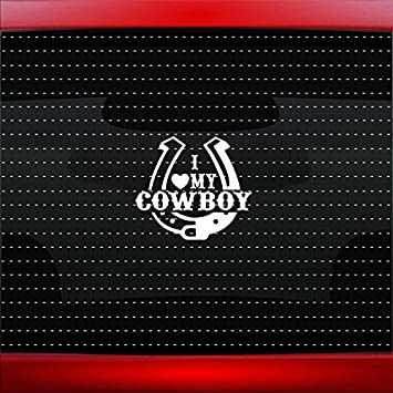 Heart Horseshoe Cowboy Cowgirl Car Truck Window Vinyl Decal Sticker 10 Colors