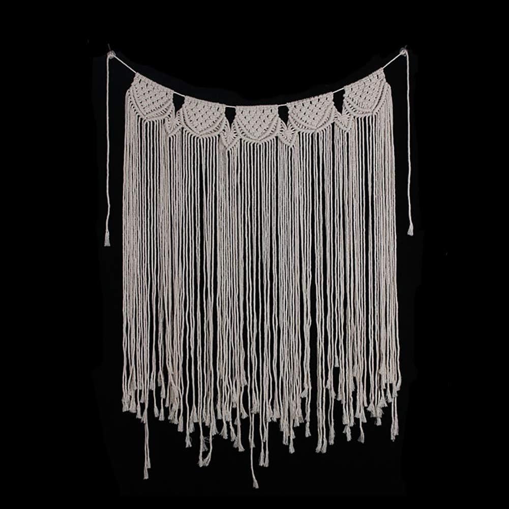 EDENCOMER Macrame Colgar de la Pared de la tapicería de la Franja de Garland Banner algodón Tejido decoración de la Pared de la Fiesta de la Sala Dormitorio decoración de la Boda
