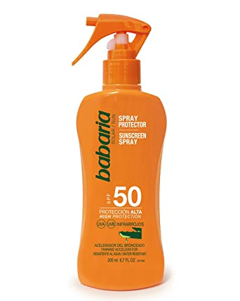 Babaria Spray Protector Solar Aloe SPF50-200 ml: Amazon.es