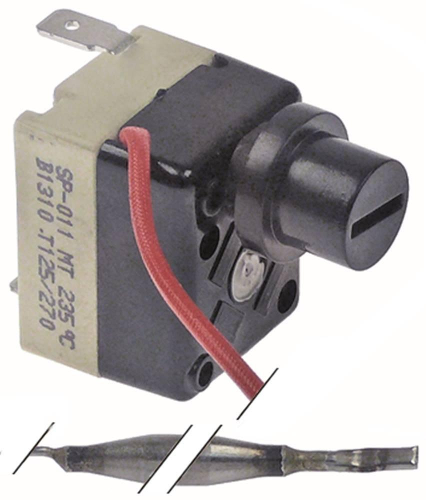 Thermostat de sécurité Set 1NC TECASA Température max. 235°C x 73mm