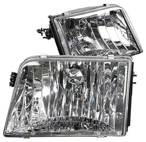 DNA Motoring HL-OH-FR93-CH Headlight Assembly (Driver and Passenger Side)
