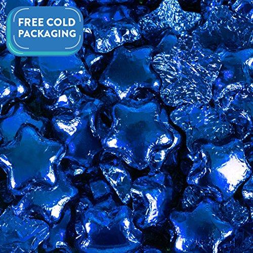 Milk Chocolate Stars - Blue Foil Wrapped - Madelaine Qual...