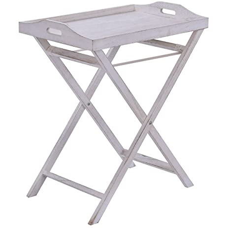 amazon com folding table tray end serving table stand sofa accent