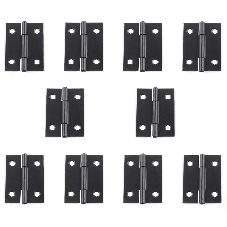 Rzdeal Charnières en métal Noir 38x 30mm Home Furniture Hardware Charnière de porte (lot de 10)
