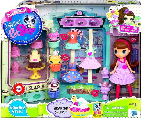 LPS Littlest Pet Shop Blythe Doll Sweetest Sugar Chic Sweet Treats Shoppe Toy Playset by Hasbro -