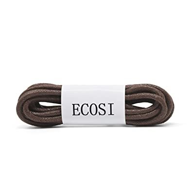 a87160c447a77 Round Waxed Dress Shoe Laces - ECOSI Oxfords Shoelaces For Men Women