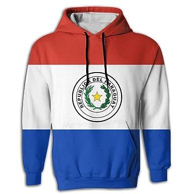 Amazon.com: Simoner Flag Of Paraguay Mens Pullover Hoodies ...