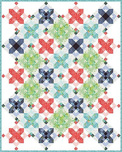 - One Canoe Two Hazelwood Snowflakes Quilt Kit Moda Fabrics KIT36010