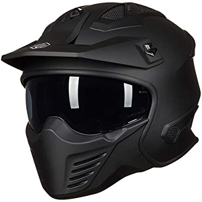 ILM Open Face Motorcycle 3/4 Half Helmet for Moped ATV Cruiser Scooter DOT: Sports & Outdoors