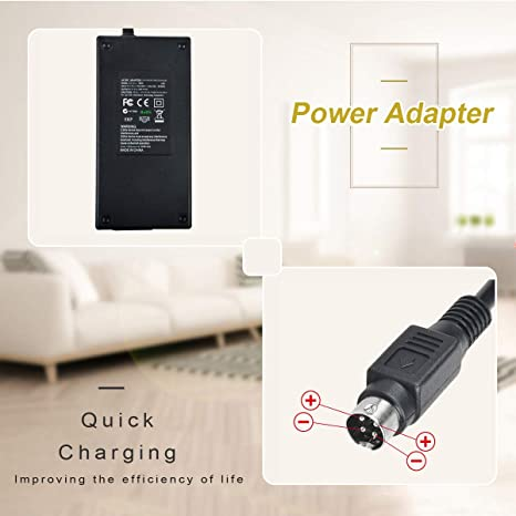 New Global 4-Pin DIN AC//DC Adapter for Pioneer StealthTouch-M7 17 All-in-One AIO Touchcomputer POS Terminal PioneerPOS Steath Touch M7 StealthTouch-M2 M2 S-line 12 LED LCD Power Supply TOP