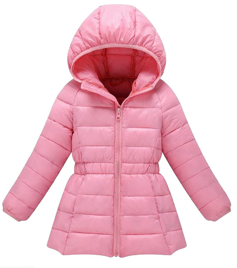 Tootless Little Girls Winter Snowsuit Hooded Solid Down Jacket Parka