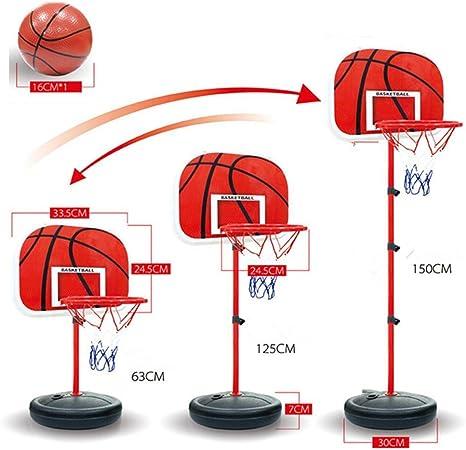 Canasta de baloncesto portátil con soporte para niños Finer 63 ...