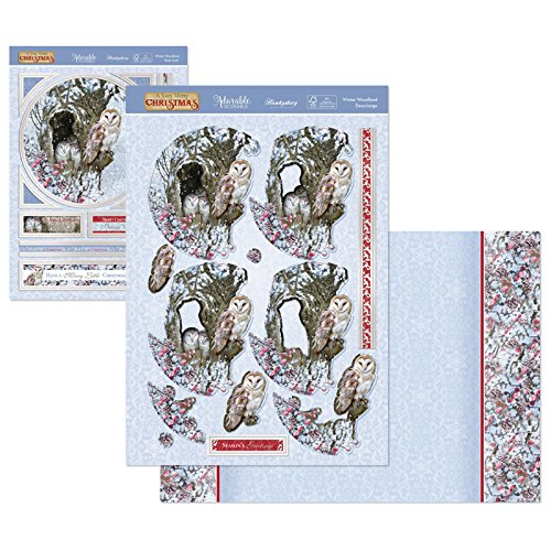 Winter Woodland Hunkydory Crafts A Very Merry Christmas Topper Set Card Kit MERRY912