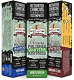 My Magic Mud Activated Charcoal Toothpaste 4 oz Variety 3 Pack - Cinnamon Clove, Peppermint, and Wintergreen