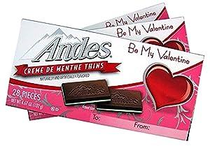 Valentine's Day Andes Creme De Menthe Mints, Pack of 3, 4.67 oz