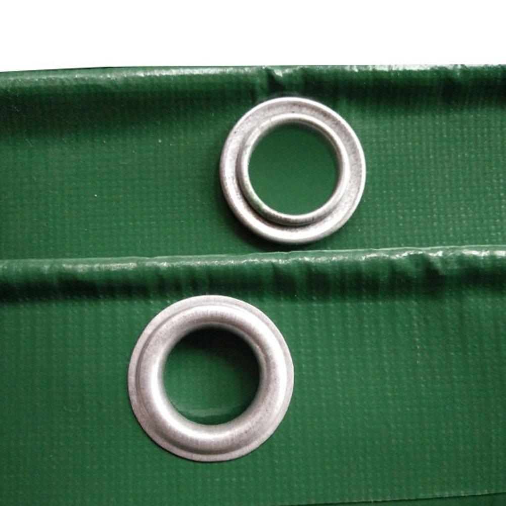 CHAOXIANG オーニング 厚い 両面 防水 アンチサン 耐摩耗性 耐食性 耐寒性 防塵の 老化防止 PVC 緑、 550g/m 2、 厚さ 0.55mm、 16サイズ (色 : 緑, サイズ さいず : 4×4m) B07DC5Q96N 4×4m|緑 緑 4×4m