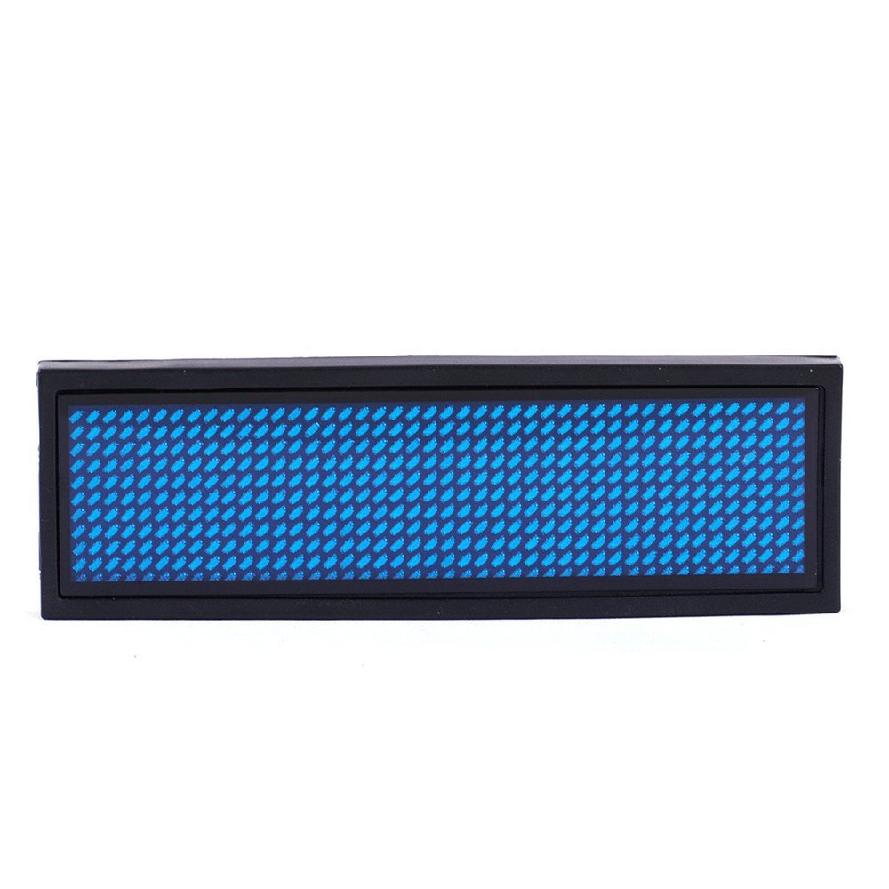 Blue LED Programmable Scrolling Name Tag Badge Display Moving Sign Rechargeable Programming Scrolling for Restaurant Shop Party Bar Exhibition