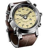 SISU Carburetor Q4 Quartz Men's Watch, Vintage Cream Dial, Leather Strap (Model: CQ4-50)