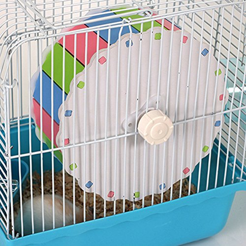 MMdex Colorful Pet  Exercise Running Wheel Toy with 7.5'' Diam for Hamster Mouse Rat Mice by MMdex (Image #2)