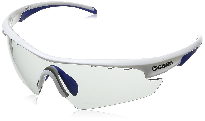Ocean Sunglasses Ironman gafas de sol Montura : Blanca Azul Lentes :