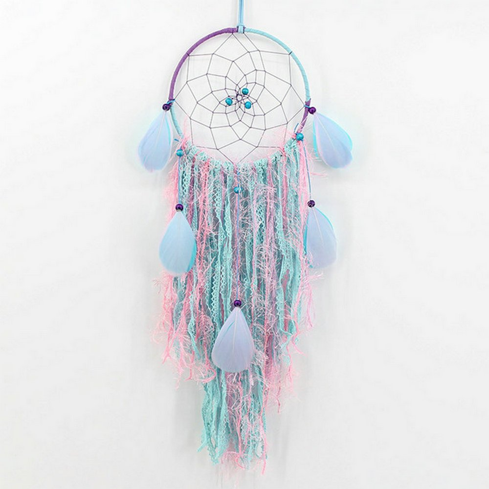Dream catcher Handmade Traditional Feather Wall Hanging Car Hanging Home Decoration Ornament Decor Ornament Craft Gift Multicolor ShengDi