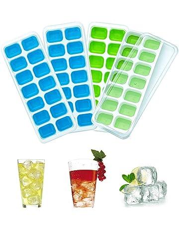 Silicone 21 Cavité Ice Cube Tray W Couvercle Moule Carré Moule Baby Food store Congélateur
