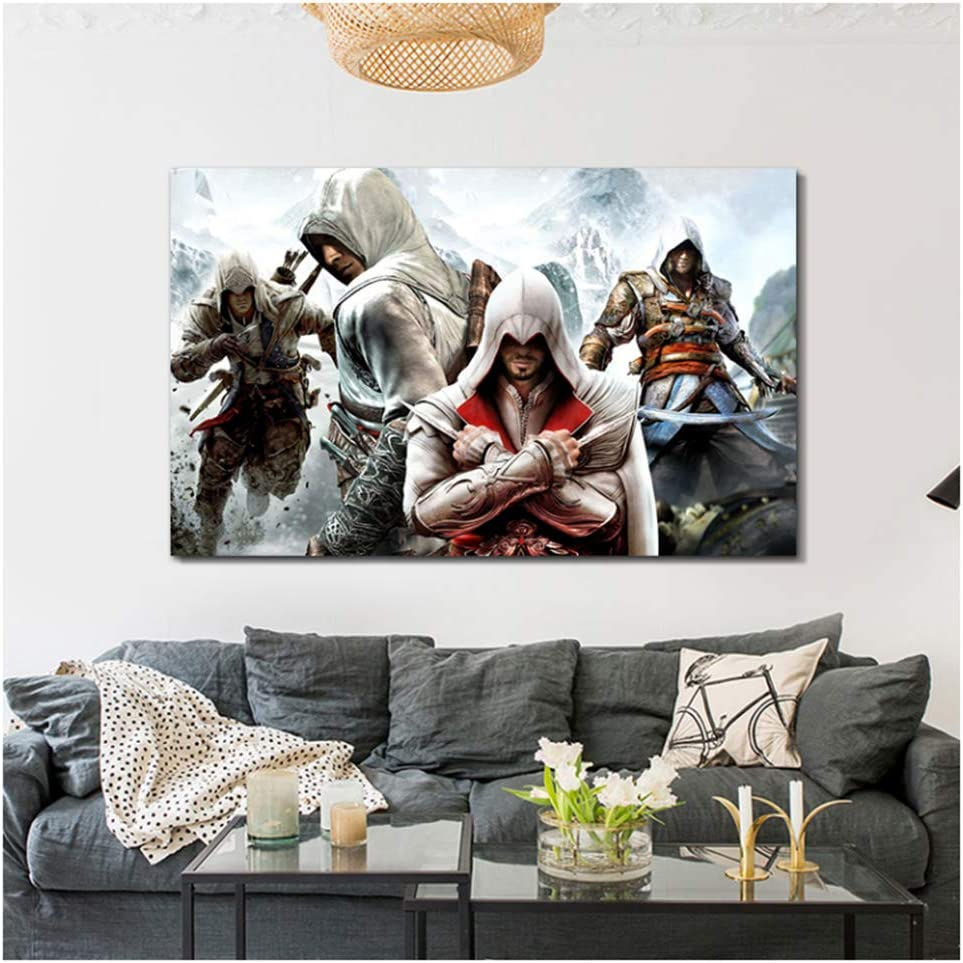 Amazon Com Chihie Assassins Creed Poster Wall Art Anime Painting