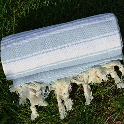 Baby Blue Turkish Towel Peshtemal product image
