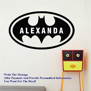 pegatinas de pared frases Decoración del hogar Batman Nombre ...