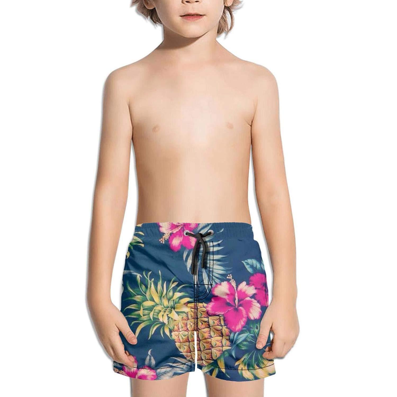 XULANG Kid Pineapple Repeating Pattern Swim Trunks Surf Street Swimwear Stretch Boardshorts
