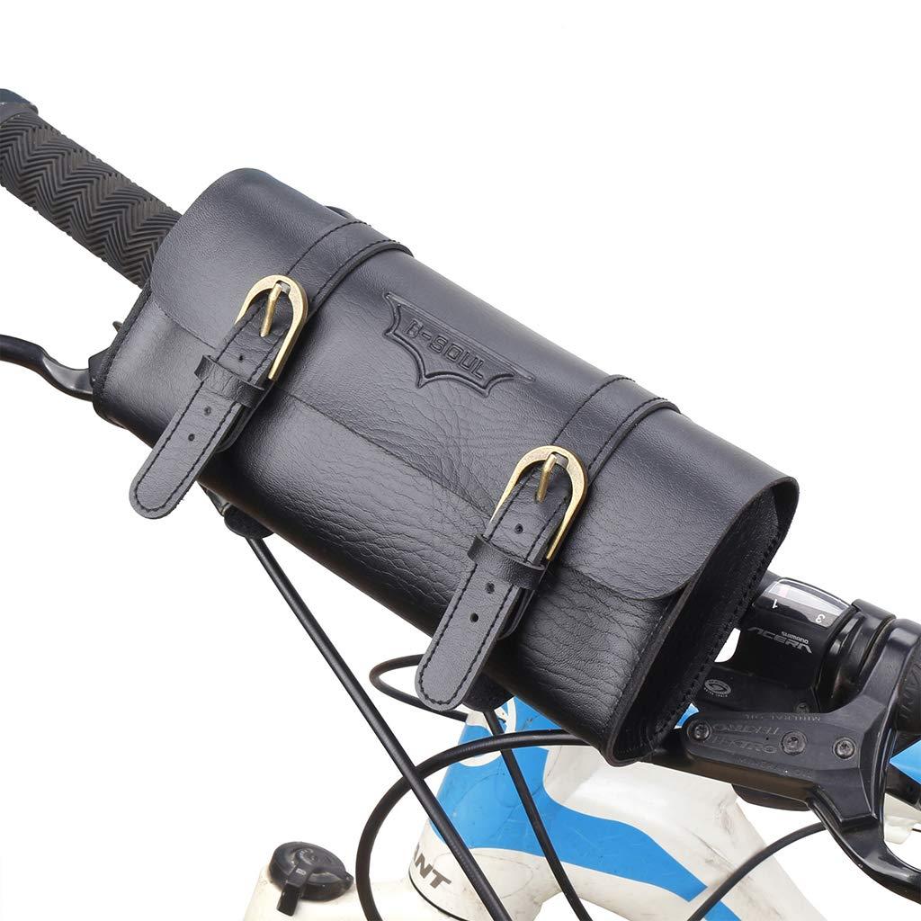 IPOTCH Bicicleta Manillares Bolsa Impermeable de Artificial Cuero Silla Bolsillos Deportivos