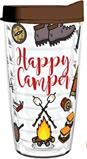 product image for Smile Drinkware USA-Happy Camper 16oz Tritan Insulated Tumbler with Lid and Straw