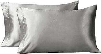 2-Pack Bedsure Polyester Satin Standard Pillowcase