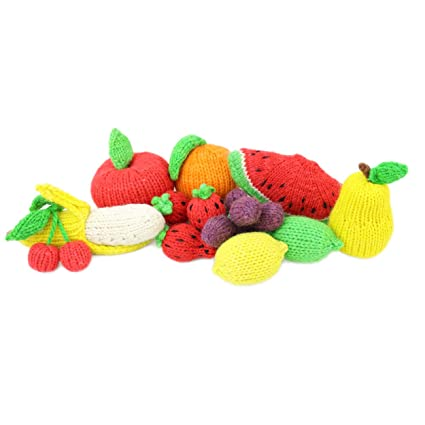c7d404490149 Amazon.com  Camden Rose Knitted Play Food Set - Fruit Variety
