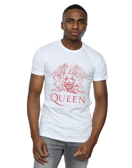 grandes ofertas en moda comprar mejor producto caliente Absolute Cult Queen Hombre Distressed Crest Camiseta: Amazon ...