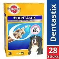 Pedigree Dentastix (Value) Oral Care Dog Treat for Adult Large Breed (25 kg+) Dogs, 1.08 kg Monthly Pack (28 Sticks)