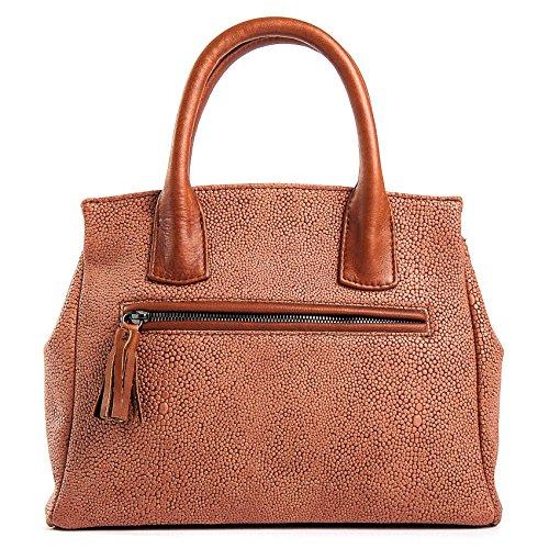 Milano - Passione Bags - Borsa da donna in vera pelle effetto razza ruggine a mano o spalla. Made in Italy