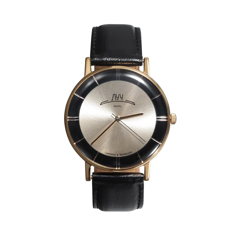 Mittagessen Retro Collection. Man Armbanduhren mit Gold & Schwarz Zifferblatt. Quarz. Kombiniert Gold. 31728586