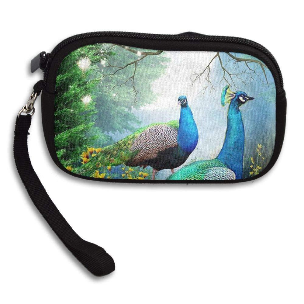 HACVREQ Unisex Personalized Wallet,Beautiful Peacocks Purse Bag Woman Ladies Men Gentlemen