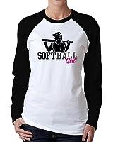 Idakoos - Softball girl - Sports - Women Raglan Long Sleeve T-Shirt