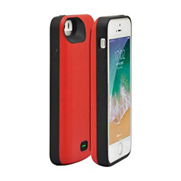 Fey-EU Funda Batería para iPhone 5/5S/SE, 4000mAh Funda Cargador Portatil Batería Externa Ultra Carcasa Batería Recargable Power Bank Case para iPhone ...